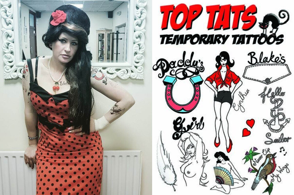 SMIFFYS Ladies Amy Winehouse Fancy Dress Rehab Costume Hen Night 2 Piece Set