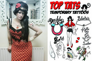 10-LIFE-SIZE-LARGE-Amy-Winehouse-Tattoos-Fancy-Dress-Costume-Outfit-Tribtue-Act