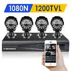 DEFEWAY Outdoor 1500TVL 1080N HD CCTV Home Surveillance Security System No HDD