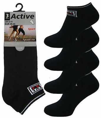 12 Da Uomo Active Sport Logo Cotone Ricco Trainer Calzini Liner/nero/uk 6-11-mostra Il Titolo Originale In Molti Stili