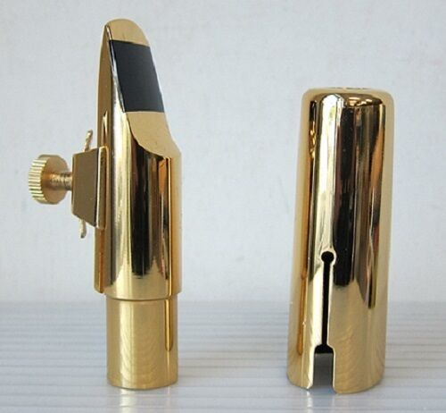 Nuevo Nuevo Nuevo 14K oro Plateado Boquilla de saxofón soprano aeab56