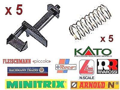 5 Ganci-hooks Nem+5 Molle Rame-spring Tipo Arnold Universali Long-lungo Scala-n