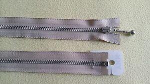 YKK 1-Wege Reißverschluss teilbar 60-80cm Metall Kugelzip Metallzähne