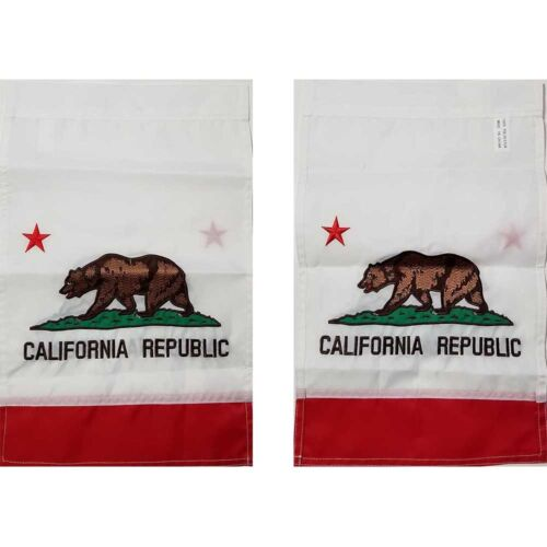 12x18 California State Flag Embroidered Sleeve Garden FAST SHIP by FanzofSportz