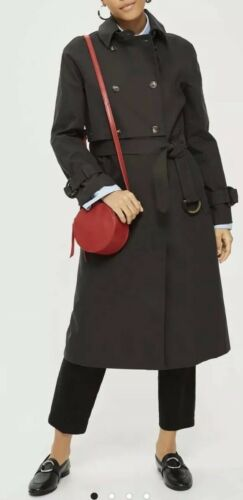 Uk Topshop Premium Coat Black 6 £150 Rrp Deconstructed Trench SXRrSnxZ