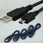 Data Sync Cable Mini USB Cord Lead Charger For MP3 MP4 Media Player Camera Black