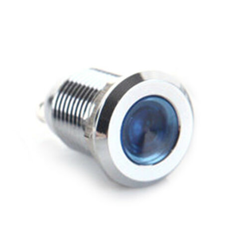 12mm 6//12//24//220V LED Indicator Light Lamp Bulb Pilot Dash Panel Car Truck Boat