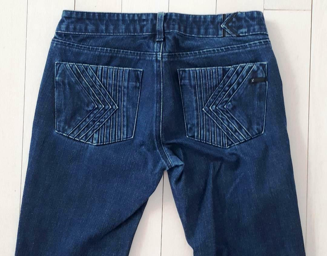 K BY KARL LAGERFELD MADE IN ITALY DENIM JEANS WIDE LEG ( 27 )