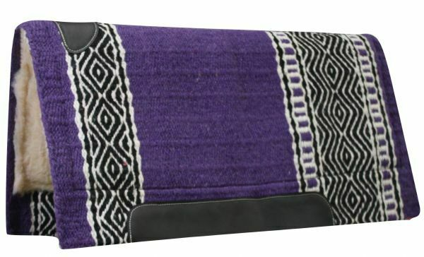 Western viola 36x34 100% Cutter Horse Saddle Pad Blanket Fleece 6205