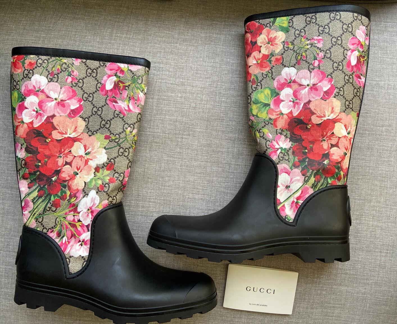 Gucci Prato GG Blooms Floral Rain BOOTS