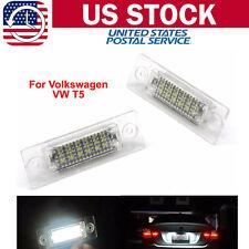 Set LED License Number Plate Light Lamp For VW Touran Golf Skoda Jetta Passat T5
