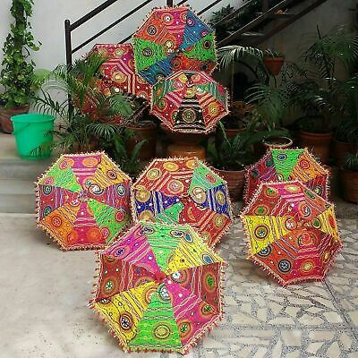5 PC Lot Indian Traditional Wedding Decorative Handmade Sun Umbrella Parasols