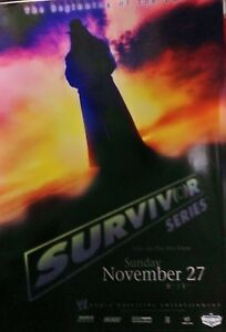 Details about 2005 SURVIVOR SERIES WWE PPV POSTER UNDERTAKER, ALWAYS ROLLED  NEVER FOLDED, ECW