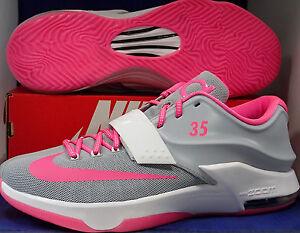 b540b9547de1 Nike KD VII 7 iD Grey White Pink Aunt Pearl Kevin Durant SZ 15 ...