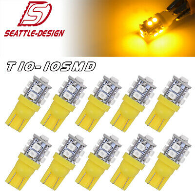 5SMD 8000K T10 Wedge Interior Dome Map LED Light Bulb W5W 194 168 2825 175 579