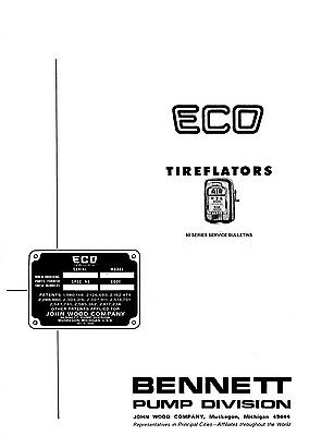 ECO Air Tiremeter Model 37 38 Care and Adjustment Instructions and Parts List