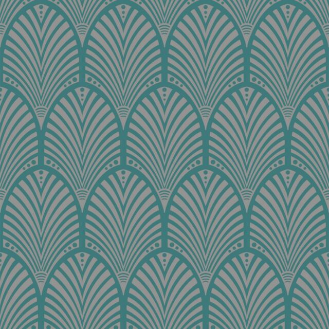 GATSBY ART DECO WALLPAPER TEAL HOLDEN DECOR 65253 FEATURE WALL NEW