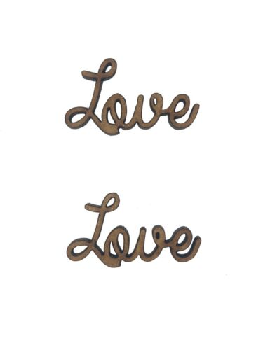 12x Love Words 3cm Wood Craft Embelishments Laser Cut Shape MDF