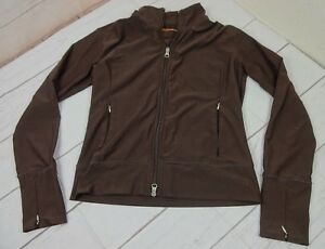 Lucy-Girls-Size-XS-Brown-Micro-Poly-Zip-Up-Long-Sleeve-Front-Zip-Pockets-Jacket