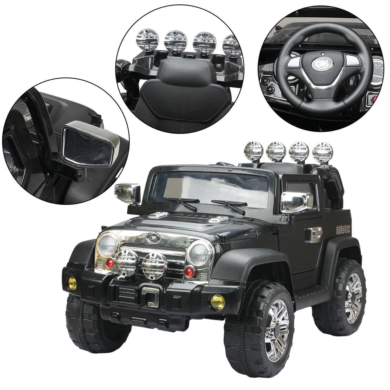 Elektroauto Kinderauto Kinder Fahrzeug Wagen Elektro Auto Spielzeug Jeep Schwarz