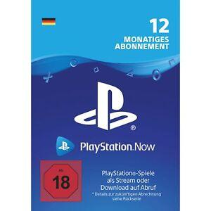 Sony-PlayStation-Now-12-Monats-Abonnement-Download-Code-deutsches-Konto-DE-PS4