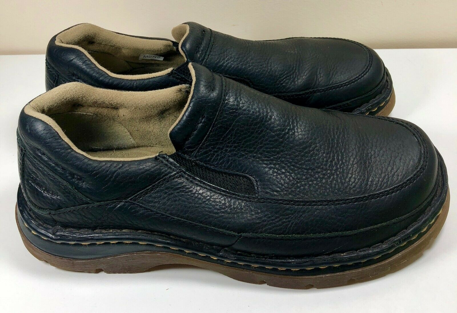 Dr Martens Doc nero Leather Pebble Grain Slip On Loafers Dimensione 11 Mens