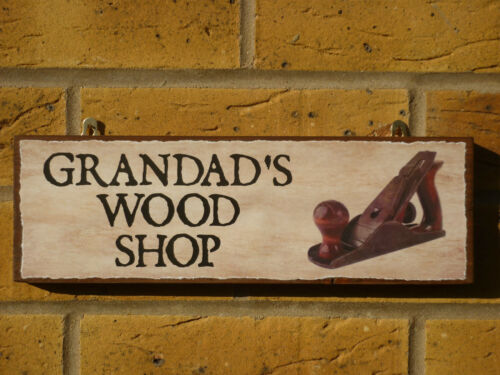 PERSONALISED WOODWORKERS SHED WOODWORKING SHED OWN NAME TOOLS HAMMER CHISEL NAME