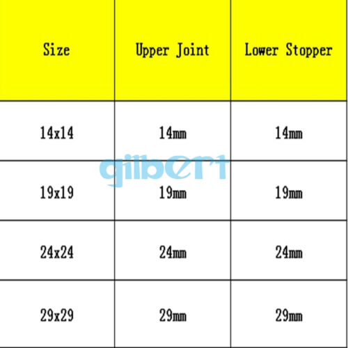 14//23 19//26 24//29 29//32 Joint Female to Male Lab Glass Transfer Gas Adapter