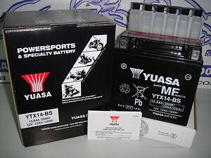 BATTERIE-YUASA-YTX14-BS-POUR-BMW-K-1200-R-S-A-PARTIR-DE-2006