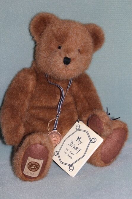 Boyds Bears 16  Theodore Numberot Bear w  Medal 100th Anniversary Edition