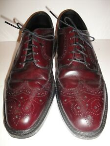 Vintage Hanover Oxblood Brogue Wingtip Men/'s Shoes