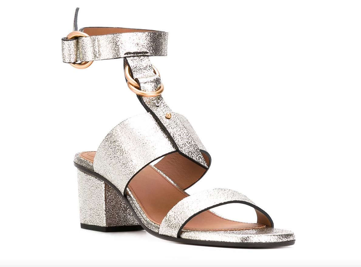 buona reputazione CHLOE Kingsley Kingsley Kingsley grigio Glitter Ankle Strap Heels Dimensione 37.5 7964  forma unica