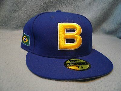 Italy New Era 59FIFTY World Baseball Classic Fitted Hat Cap Blue Red White NEW!!