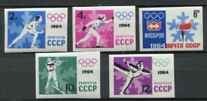 28728-RUSSIA-1964-MNH-Nuovi-Winter-Olympic-Games-5v-Imperf