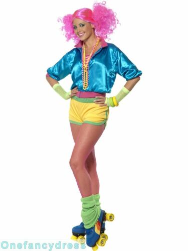 Wild Child Madonna Adult Ladies 1980s Fancy Dress Costume 80s Aerobics Outfit