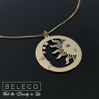 Beauty Gift Sun Moon Totem Pattern Shape Necklaces Pendant Retro Moon Stars Jewelry