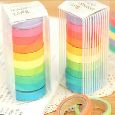 10x Washi Sticky Paper Masking Adhesive Decorative Tape Scrapbooking
