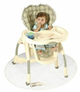 50 Inch Floor Mat Clear Baby High Chair Infant Toddler Feeding