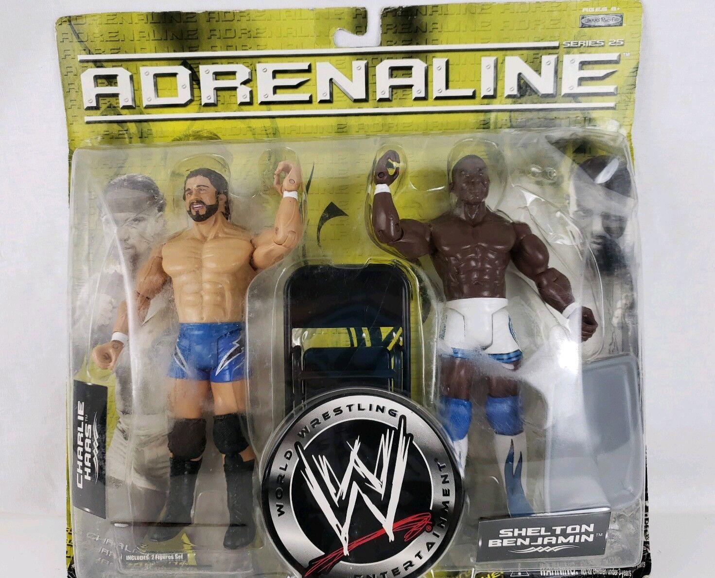 WWE Adrenaline Series 25 Charlie Hass & Shelton Benjamin Figures - Jakks - NEW