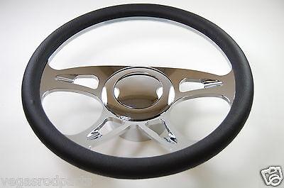 "14/"" Chrome Aluminum Seering Wheel CAROUSEL GM Chevy Custom Half Wrap"