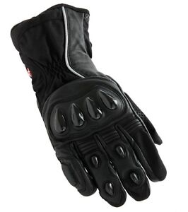 GUANTI-GLOVE-SCOOTER-SCOTLAND-TUONO-IN-PELLE-NERO-MOTO