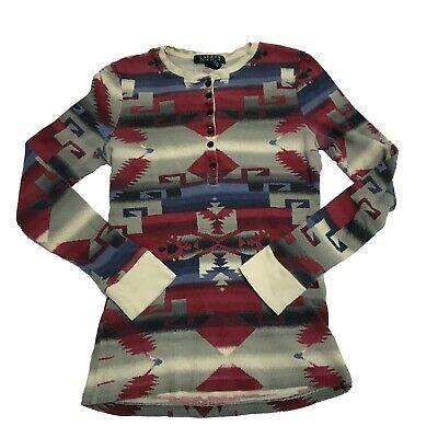 Ralph Lauren Ladies Long Sleeve Waffle Thermal Cotton Shirt Top NWT Womens S-XL