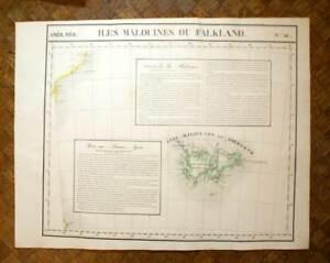 ILES-MALOUINES-ou-FAKLAND-Carte-geographique-d-039-Amerique-n-41-VANDERMAELEN-1827