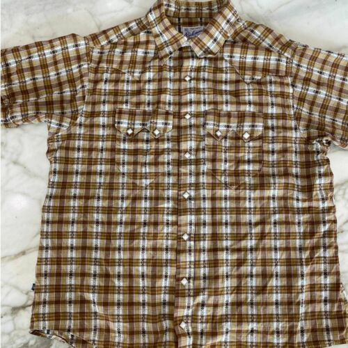 Rockmount Ranch Wear 16.5 Plaid Pearl Button