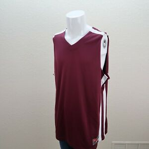 Mens-Nike-Team-XXL-Maroon-Basketball-Tank-Jersey-Workout-Shirt