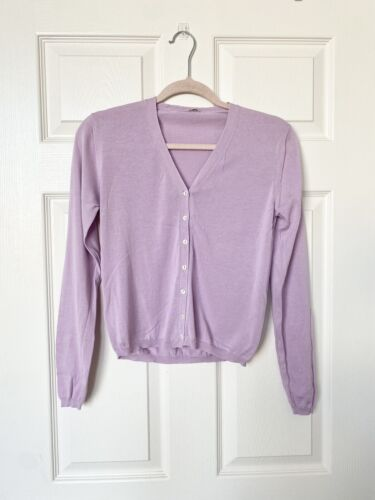 Malo Lilac Lightweight Cardigan Size 42 IT / US 6 - image 1