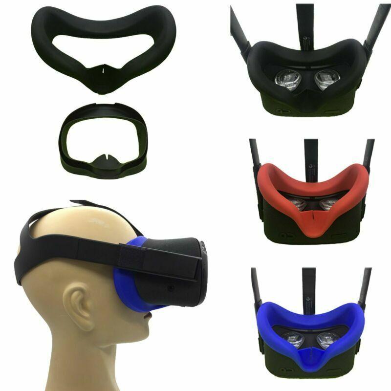 Mujeres Y Ni/ños VR Face Silicone Cover Mask /& Eye Maskfor Oculus Quest 2 Funda De Coj/ín Facial Resistente Al Sudor Juego De Comodidad A Prueba De Luz para Hombres Gris Negro