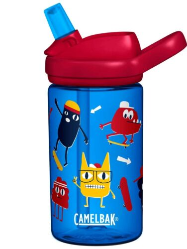 KIDS WATER BOTTLE 400ml NON SPILL BPA /& BPS FREE DISHWASHER SAFE CAMELBAK EDDY