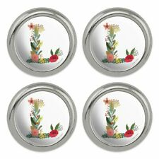 Letter T Floral Monogram Initial Metal Craft Sewing Novelty Buttons Set of 4