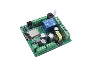 ESP8266 Development board with AC to DC converter, Relay, interface to solenoid